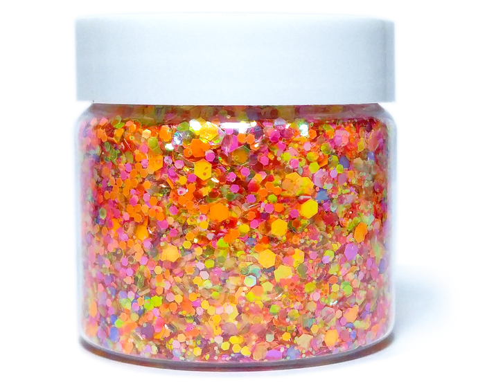 Sunset Boulevard - Festival Glitter Mix - Pink, Orange, Yellow & Purple Chunky