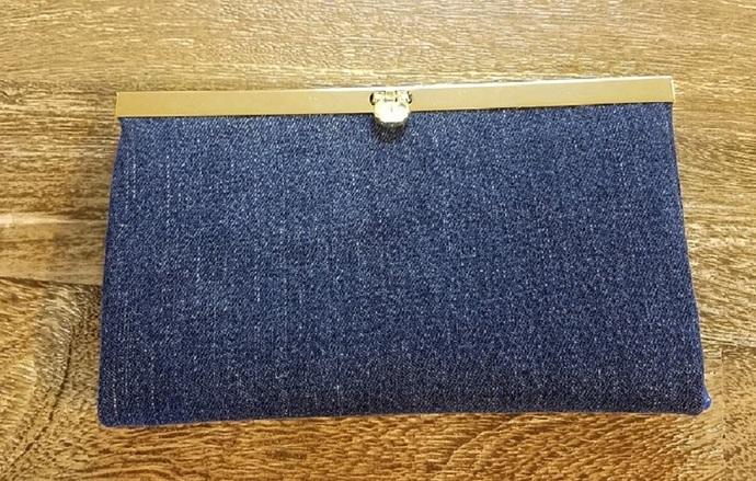 Custom Jean Wallet Clutch Purse