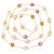 Fine Silver Blue topaz , Citrine  Semi Precious Gemstone Chain Multi color