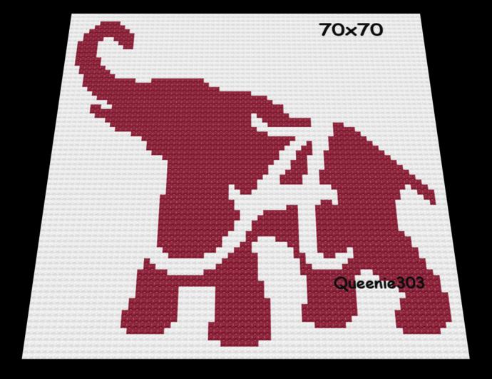 A Elephant 70x70
