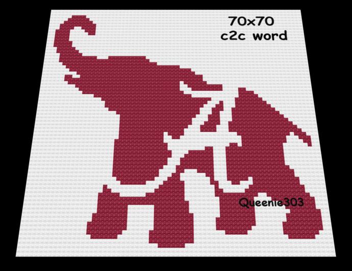 A Elephant 70x70 c2c (CORNER to CORNER)