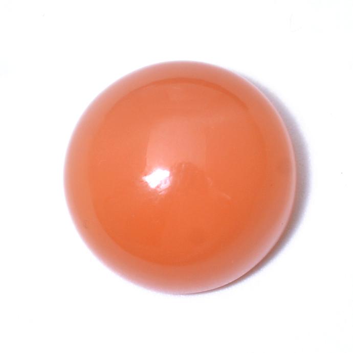 Peach Pink Moonstone 11 MM Round cabochon Semi Precious Loose Gemstone
