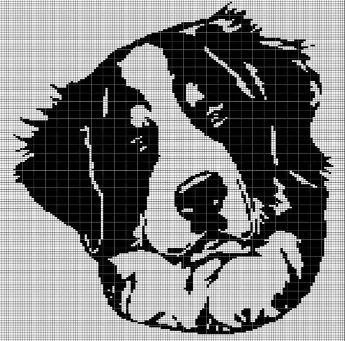 BERNESE MOUNTAIN DOG CROCHET AFGHAN PATTERN GRAPH