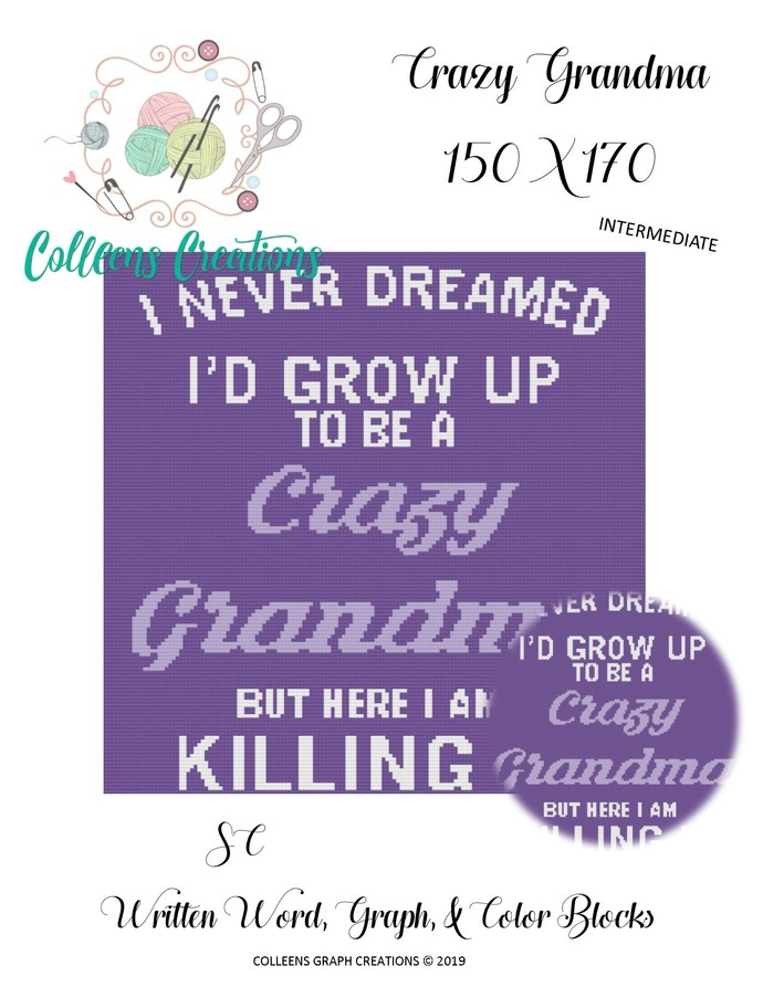 Crazy Grandma Crochet Written and Graph Design