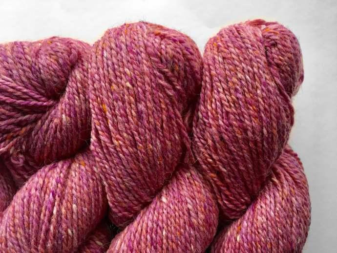 Pink knitting yarn - Nostalgia Rose - Peace Fleece - worsted knitting wool -