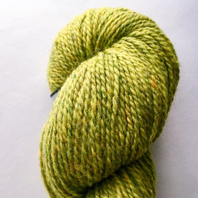 Peace Fleece Lily Pad - green worsted weight rustic wool yarn