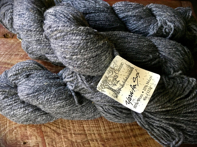 Worsted weight medium gray wool sock yarn for sox, Oxford