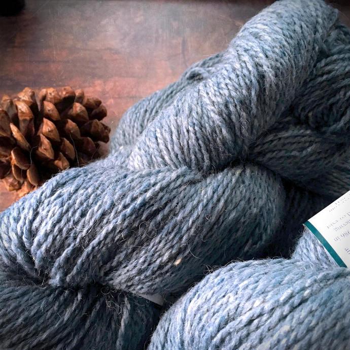 Peace Fleece Volgassippi Blue - worsted weight wool yarn, knitting yarn, blue