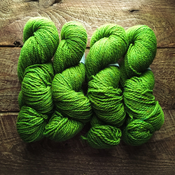 Peace Fleece - Shaba green rustic worsted weight wool knitting yarn