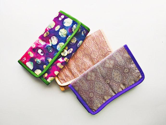 Fabric interchangeable knitting needle case