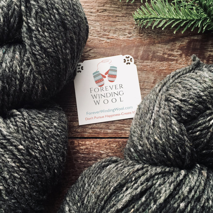 Peace Fleece Fathers Gray Worsted Weight Yarn For Knitting or felting wool,