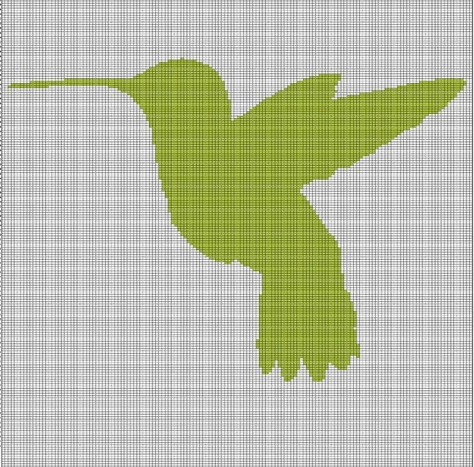 LIME HUMMINGBIRD CROCHET AFGHAN PATTERN GRAPH