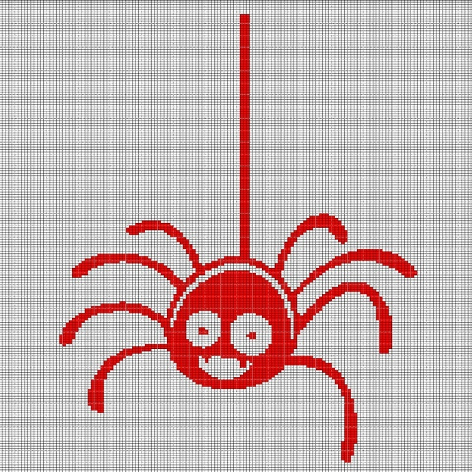 RED SPIDER CROCHET AFGHAN PATTERN GRAPH