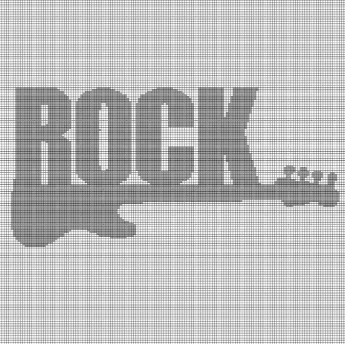 ROCK CROCHET AFGHAN PATTERN GRAPH