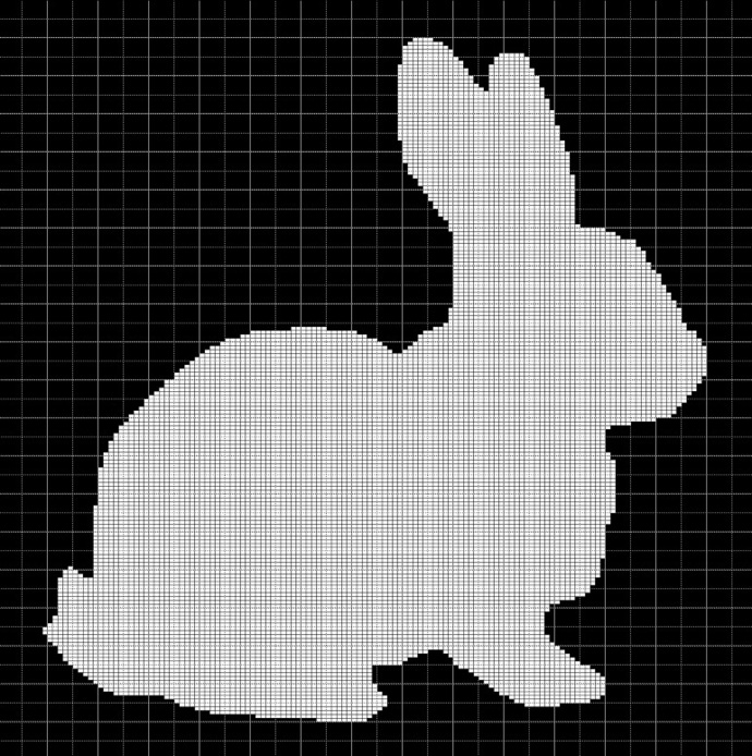 WHITE BUNNY CROCHET AFGHAN PATTERN GRAPH
