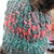 Hand Knitted Women's Dark Multicoloured Winter Hat With A Brown Pom Pom - FREE