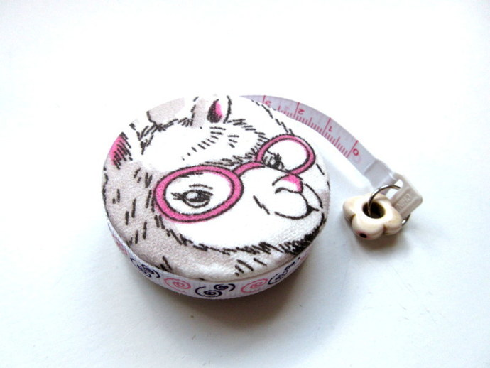 Tape Measure Heads Up Llamas Retractable Measuring Tape