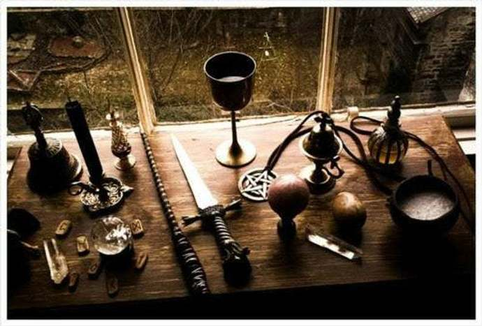THE WITCHES ALTAR AND TOOLS .. 2 PART TUTORIAL AND COURSE ONLINE VIDEO