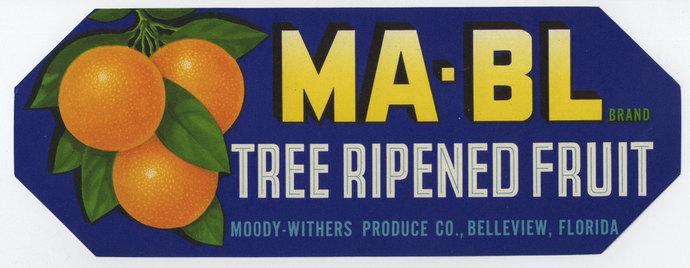 MA-BL Florida Crate Label