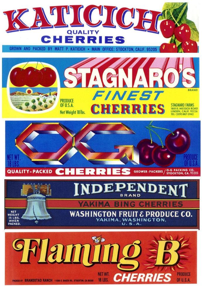 22 Cherry Apricot Plum Fruit Crate Labels