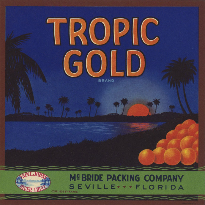 Tropic Gold Florida Crate Label