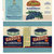 Ten Different Blueberry can labels