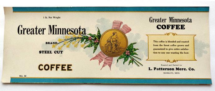 Greater Minnesota Coffee Label Mankato