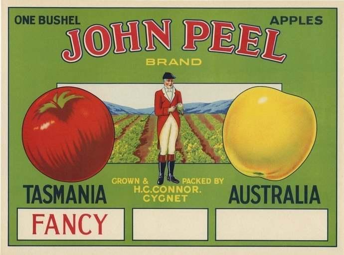 Horse Rider Equestrian Hunter Fruit Crate Label - Tasmania AUSTRALIA