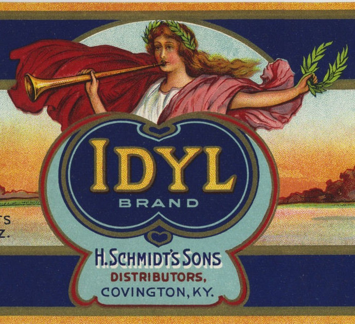 Vintage Idyl Peach Can label muse