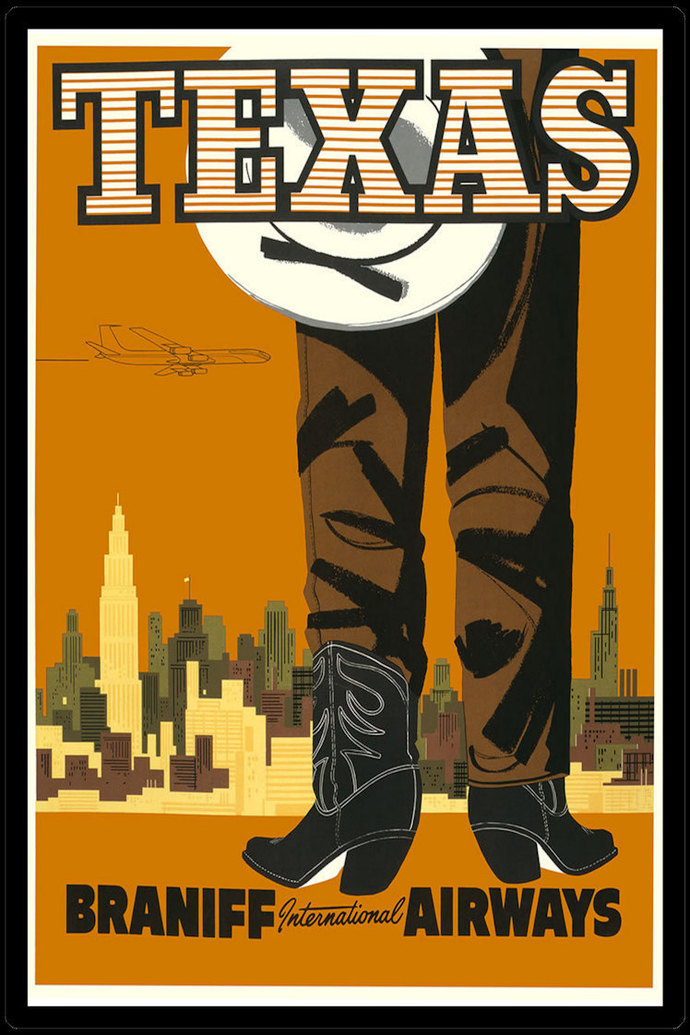 Texas Travel Poster Refrigerator Magnet - FREE US SHIPPING