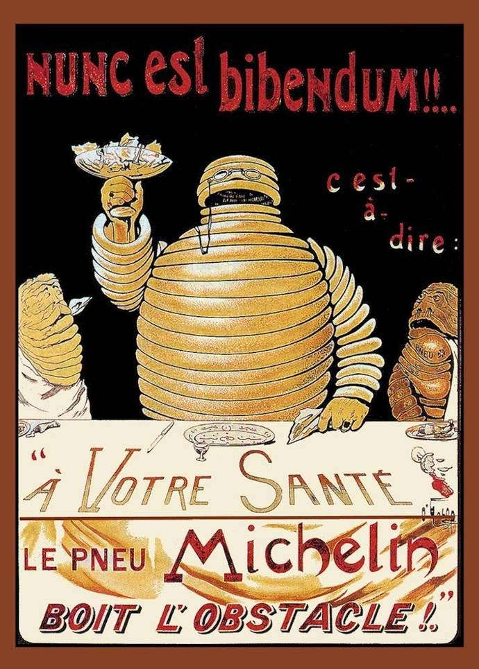 Michelin Man Vintage Poster Refrigerator Magnet - FREE US SHIPPING