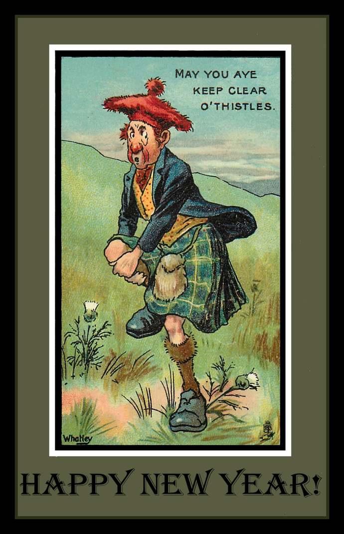 Scotsman Happy New Year Refrigerator Magnet