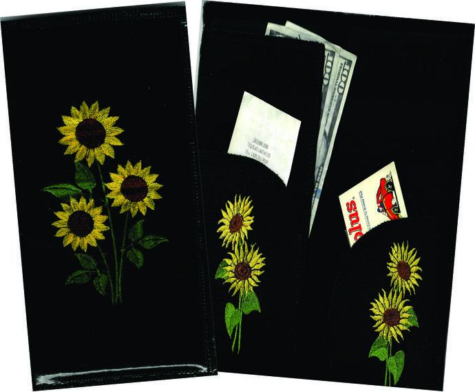 Server Wallet / Book - Sunflowers