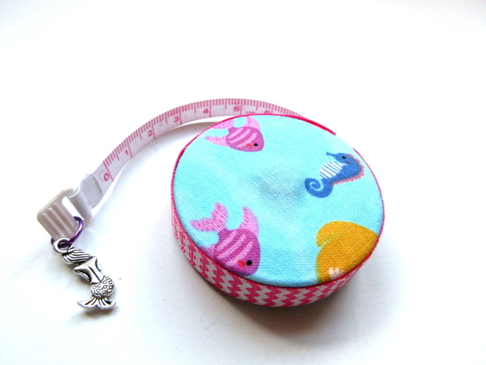 Tape Measure Mermaid in the Sea  Retractable Tape Measure
