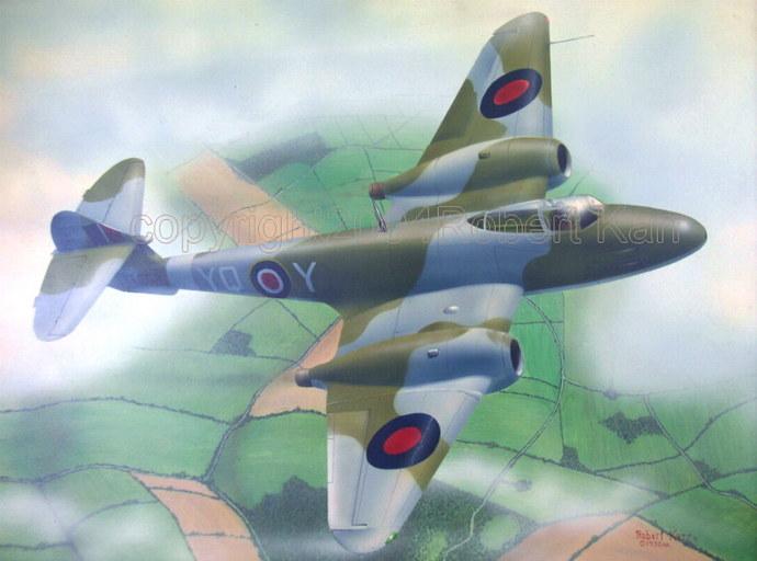 Gloster Meteor - Original Painting
