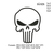 Punisher skull outline embroidery design embroidery pattern No 1013 ... 4 sizes
