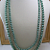 3-Strand Sage Green Pearls & Chain Necklace