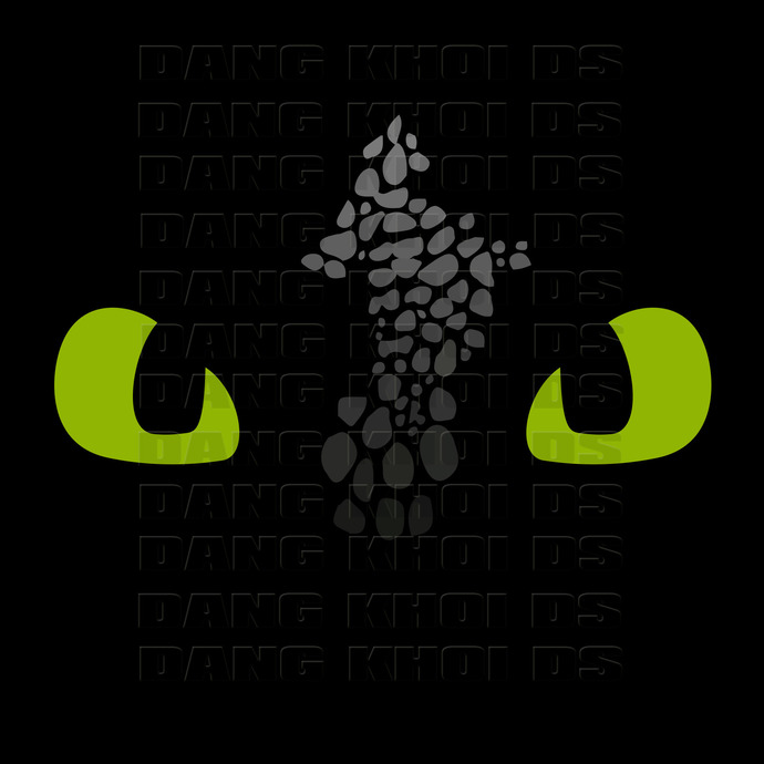 Toothless svg, Toothless face svg, How To Train Your Dragon 3 Svg, HTTYD 3, Male