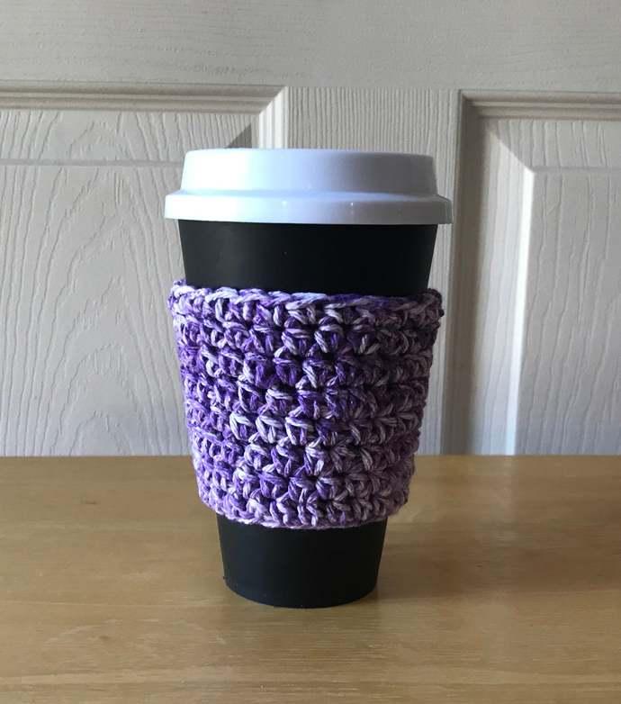 Purple Coffee Cup Cozy, Coffee Cup Sleeve