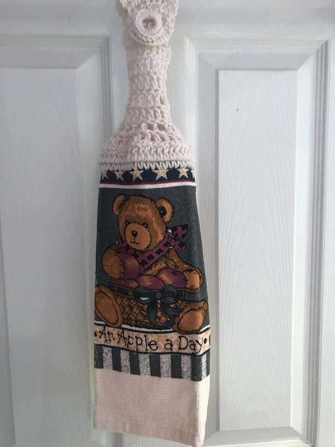 Teddy Bear Hanging Kitchen Towel