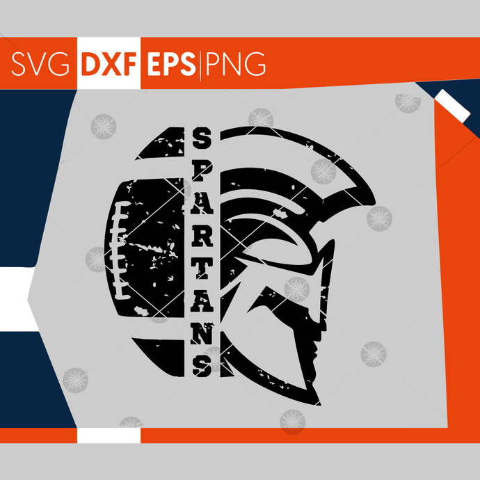 Spartans SVG, Football SVG, Grunge Spartans Football Design, Distressed Svg,