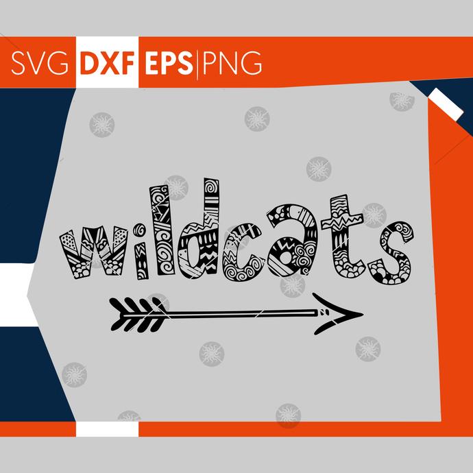 Wildcats SVG, Football SVG, Wildcats Football Sister T-shirt Design, Football
