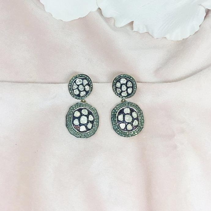 Diamond Sterling Silver Earring