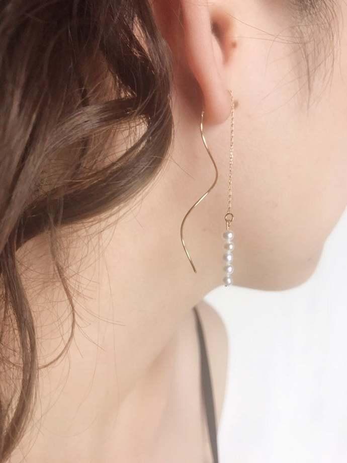 Dangle Pearl Earring| Hook| Easychic|Modern Pearl Style| Pearl Jewelry| Gift for