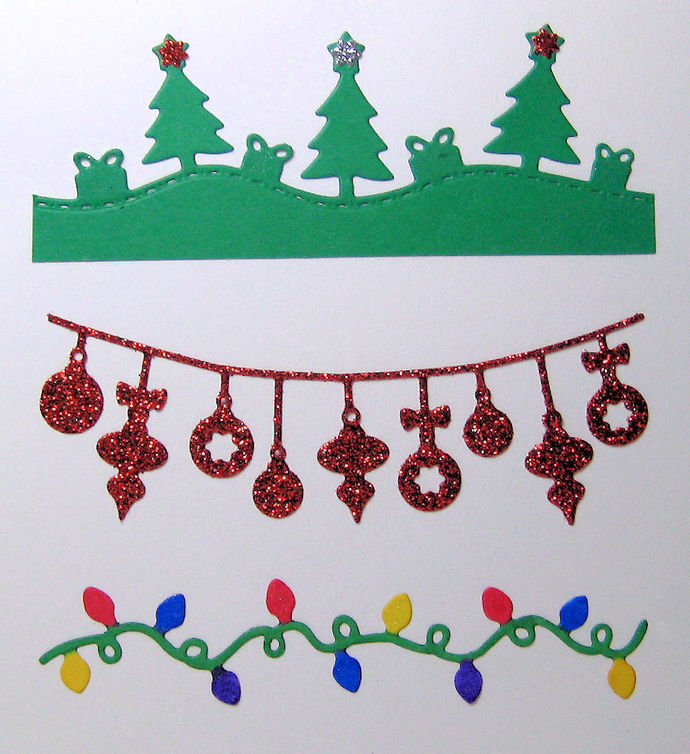 3pc Small Christmas Theme Cutting Dies