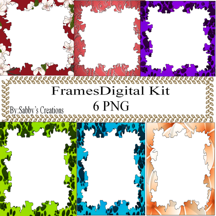 Frames Shapes 1A-Digital Kit-Jewelry Tag-Clipart-Gift Tag-Holiday-Digital