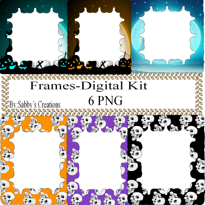 Frames Shapes 1D-Digital Kit-Jewelry Tag-Clipart-Gift Tag-Holiday-Digital