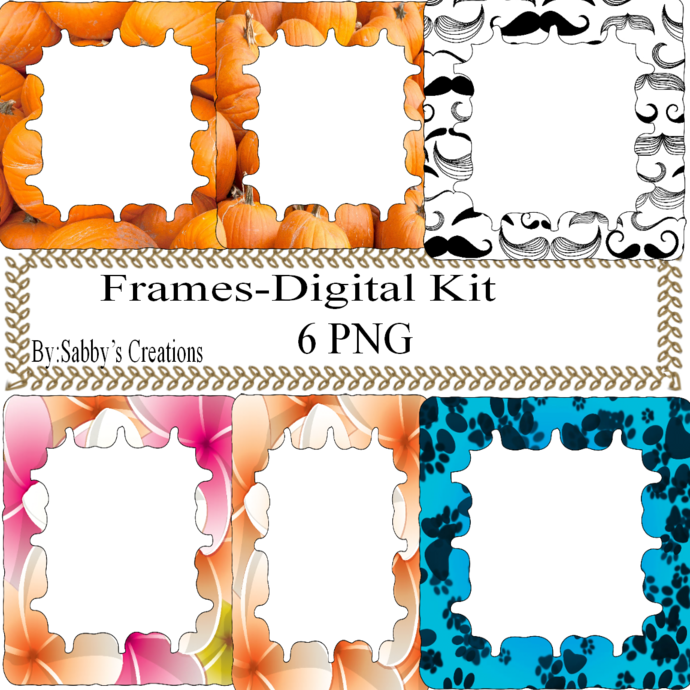 Frames Shapes 1E-Digital Kit-Jewelry Tag-Clipart-Gift Tag-Holiday-Digital
