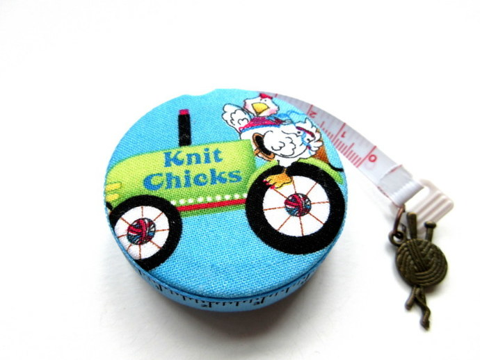 Tape Measure Knit Chicks Retractable Pocket Measuring Tape