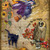 Halloween Fly By Night Digital Collage Greeting Card2390